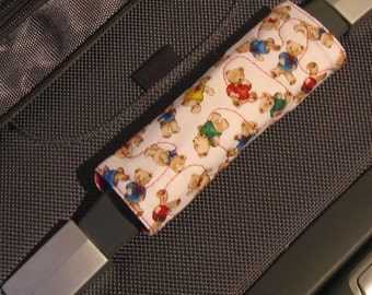 Tiny Teddies luggage handle wrap