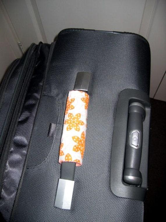 Awesome Orange luggage handle wrap - white background