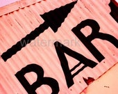 Fridge Magnet of Bar sign (UK58206) from beach abstracts range