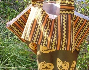 Halloween Trick Or Treat Bag  Jack O Lantern Pillowcase