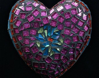 Summer Love Mosaic Heart Reserved for Lissie