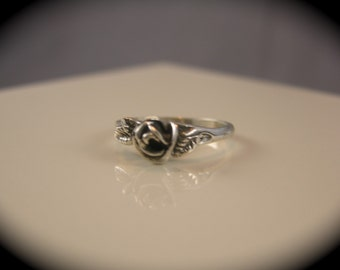 Sterling Silver Rose Bud Ring