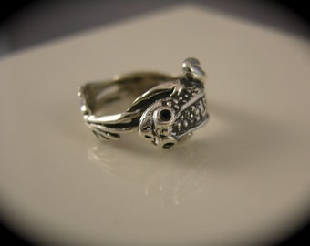 Sterling Silver Frog Wrap Ring