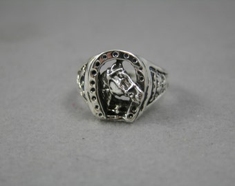 Sterling Silver Horseshoe Ring Sz 10