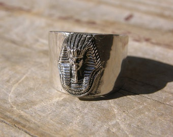 Sterling Silver King Tut Ring Band