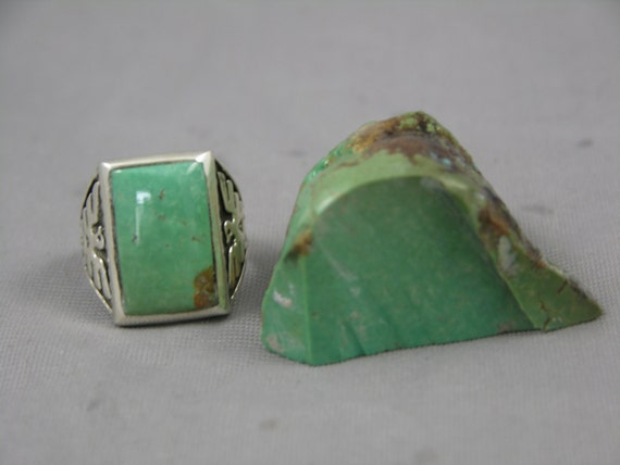 Silver Thunderbird Turquoise Ring Size 10