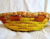 Fabric bowl yellow and orange