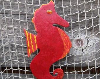 Sale Marine art sculpture seahorse metal wall hanging By Frivolous Tendencies on Etsy
