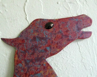 Horse Wall Hanging Handmade Recycled Metal Sculpture  11 x 14