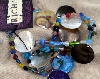 RICHARME Shell & Recycled Glass Necklace