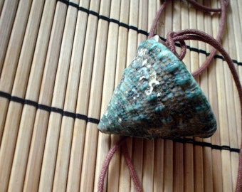 Long Turquoise Pyramid Shell Necklace
