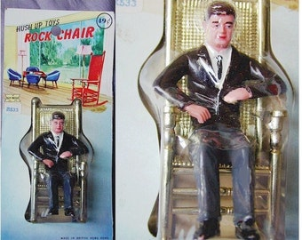 1962 JFK JOHN KENNEDY Rocking Chair Figurine Toy in Orig. Package