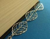 Silver Leaf Filigree Necklace - Trois Conges En argent