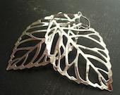 Alix - (in silver) Leaf Earrings