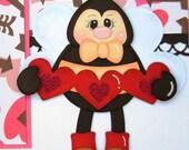 Bee Mine Valentine's Day Premade Scrapbook Pages 12X12