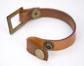 Loop-End Leather Strap Bracelet Blank FOCAL NOT INCLUDED