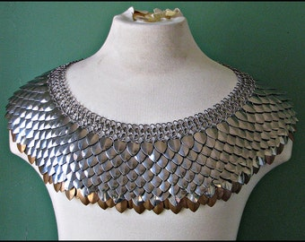 Large Extra Large Scale Mail Chain mail Mantle Dragon Scale Stainless Steel and Bronze Cosplay