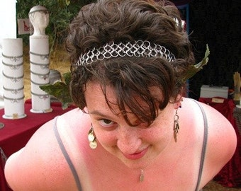 Chain Mail Hairband  Headband  The Mollyband  Chainmail stainless steel