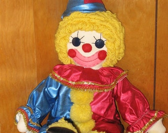 Vintage Hand Stitched Clown