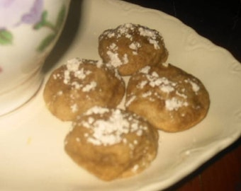 Cinnamon Cookies  (Polvorones de Canele)  One Dozen