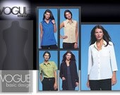 Shirt Wardrobe Pattern Short Sleeve Blouse Long Sleeve Shirt Vogue 2634 Size 12 14 16 Vogue Basic Designs Pattern