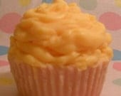 Lemon Pound Cake Scented Soy Wax Cupcake Candle