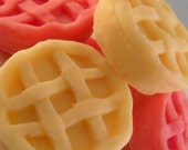 Candle Tart Melts, Pink Lemonade Scented, Mini Pies, Handmade, Soy Wax