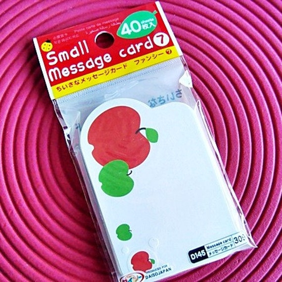 Pack of Japanese Message Card - Apples (40 cards)