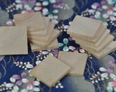 50 New 1 inch Wood Squares, Wood Tiles (23-20-140)