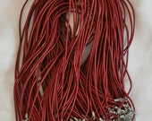 20 Red Leather Necklaces 18 inch