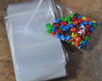 200 bags 3 inch x 5 inch Reclosable Transparent Plastic Zip Bags  (17-52-150)