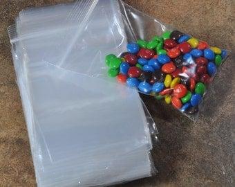 100 Reclosable 4x6 Transparent Plastic Zip Bags (17-52-152)
