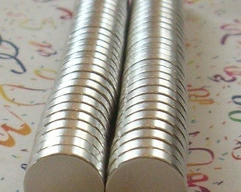 300 Pack 1/2 inch  x 1/8 inch Super Strong Neodymium Rare Earth Magnets  (13-08-119)
