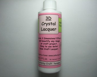 3D Crystal Lacquer 4 oz  (01-03-140)