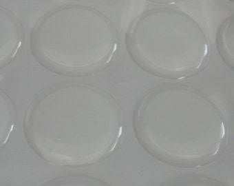 20 Pack 1 Inch Circle Clear Epoxy Domes, Resin Stickers (01-05-180)