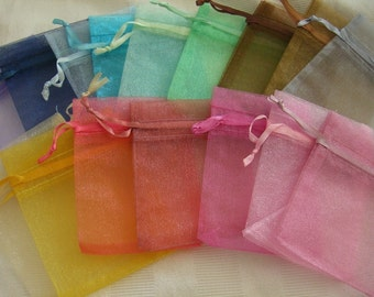 175 Pack Organza Gift bags 3 in x 4 in, Different Colors (222-222-222)