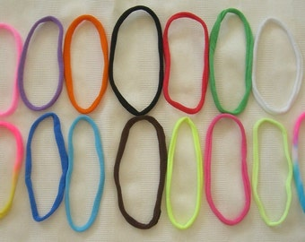 25 Stretch Nylon Chokers for your Bottle cap necklaces. 15 colors to choose from