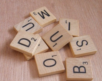 25 Pack Recycled Scrabble Tiles for your Pendants and Magnets (23-10-120)