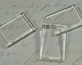 20 Pack Small Clear Glass Rectangles Tiles  (09-05-510)