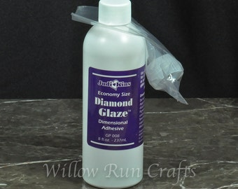 Judikins Diamond Glaze 8 oz, Craft Glue, Clear Glaze  (01-03-162)