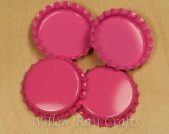 100 Hot Pink Bottle Caps  (03-02-190)