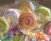 Reserved for Sandy---Rainbow Cookie Pops - Cookie Suckers - Rainbow Cookies on a Stick - 1 Dozen