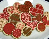 Love Cookie Gift - Valentine Cookie Collection - Valentines Day Cookies - Valentine Cookie Gift - 16 cookies