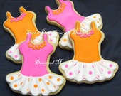 Tutu Cookie Favors - Ballerina Cookie Favors - Ballerina Tutu cookies - 1 Dozen