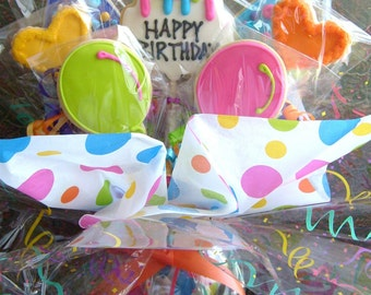 BIRTHDAY COOKIE BOUQUET - Birthday Cookie Favors - Birthday Cookies - Cookie Centerpiece