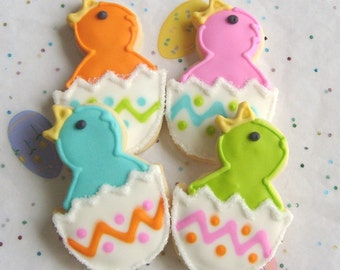 LITTLE CHICKADEES - Chick Cookies - Chick Decorated Cookies - Easter Cookies -  12 Cookies