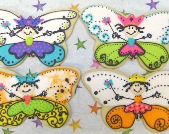 Butterfly Princess Cookies - Butterfly Cookies - 12 - Cookies