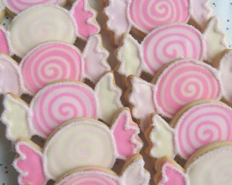Wrapped Candy Cookie Favors - Candy Cookie Favors - Birthday Cookies - 1 dz.