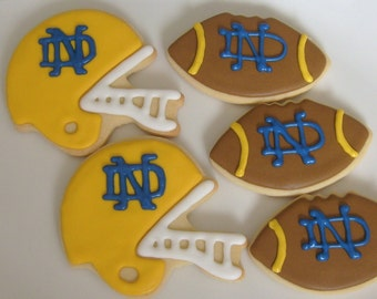 FOOTBALL SEASON COOKIES - Football Helmet - Football - Decorated cookies -  Football Cookie Favors - 1/2 Dozen