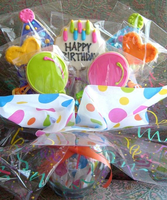 BIRTHDAY COOKIE BOUQUET Birthday Cookie Favors Birthday